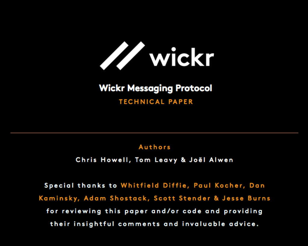 Wickr Messaging Protocol Title Image